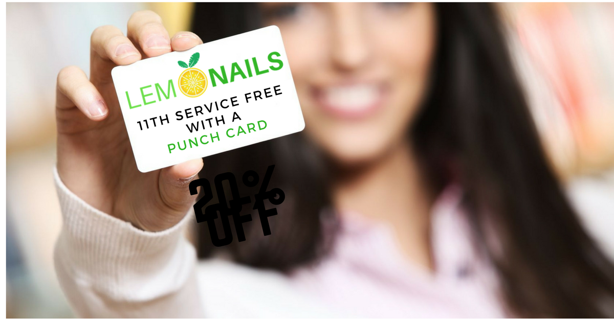 Lemon Nails Punch Card